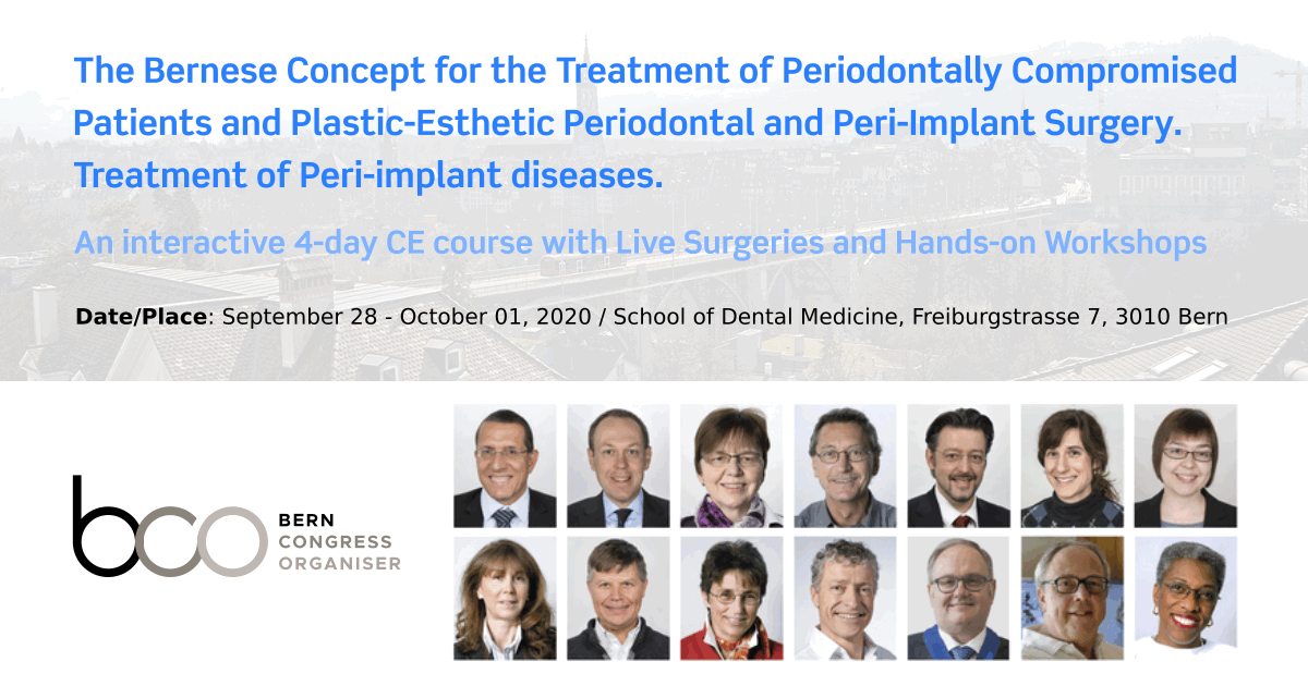 The Bernese Concept for the Treatment of Periodontally Compromised Patients and Plastic-Esthetic Periodontal and Peri-Implant Surgery. Treatment of Peri-implant diseases.